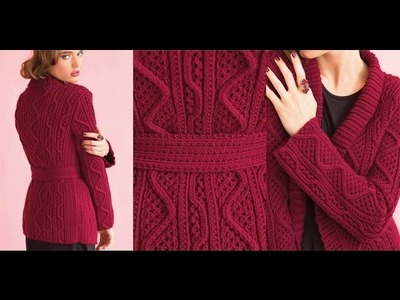 #13 Belted Cardigan, Vogue Knitting Holiday 2014