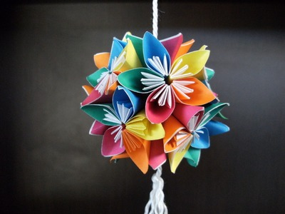 3D origami - kusudama - flowers - how to make