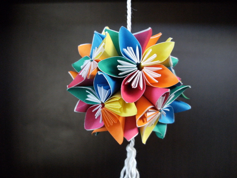 Открытка цветы оригами видео