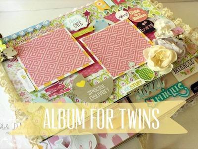 Baby album for Twins | new borns | scrapbook | mini album | handmade