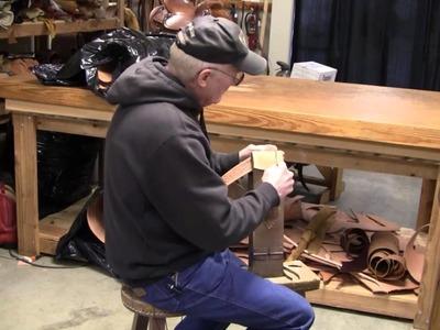 Buckstitching How to Hand Lace and Buck Stitch Leather Belts Leathercraft Stitching Tutorial