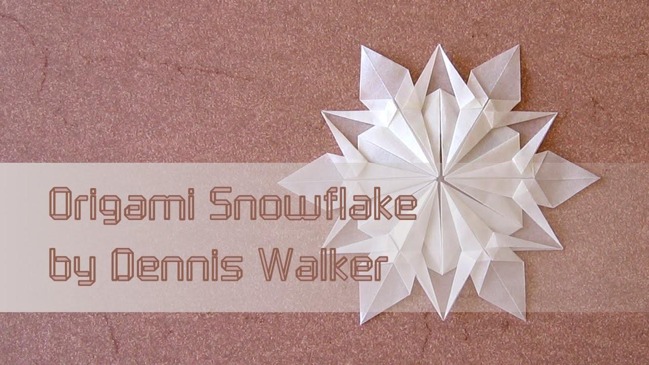 Christmas Origami Instructions:  Snowflake (Dennis Walker)