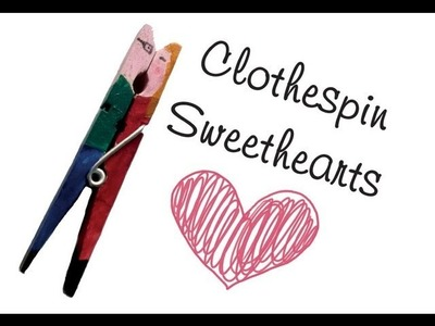 Clothespin Sweethearts: how to upcycle clothespins into a kissing couple diy