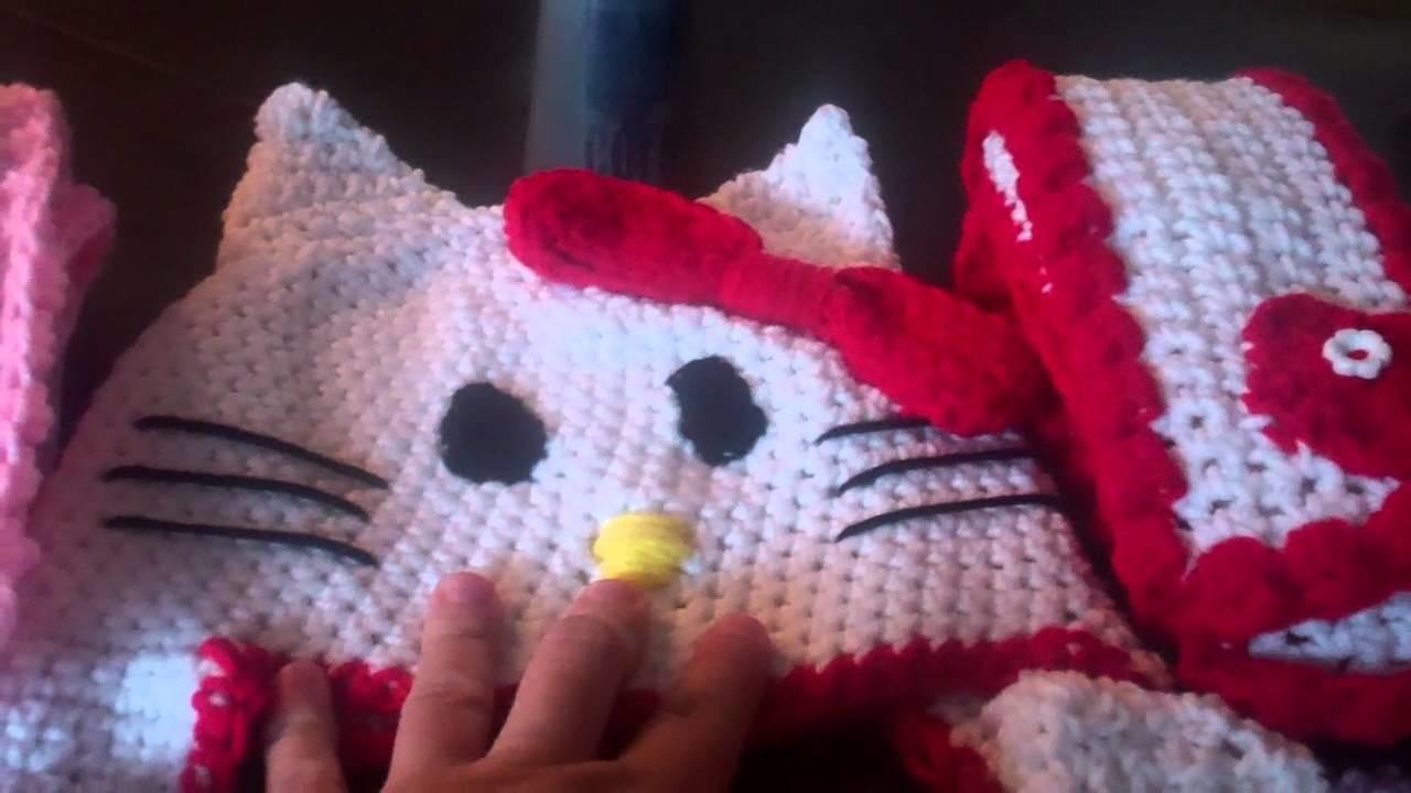 Crochet Hello Kitty beanies and scarfs