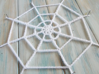 (crochet) How To Crochet a Spider's Web - Yarn Scrap Friday