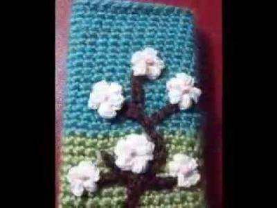 Crochet iPhone blossom case By Fibreromance.Etsy