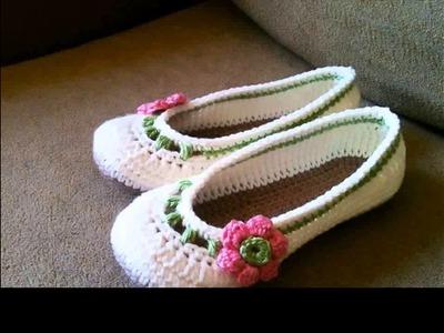 Crochet slippers for girls