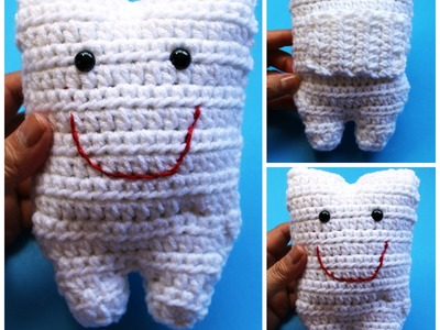 #Crochet tooth pillow saver for Tooth Fairy - video 2