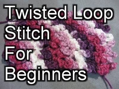 Crochet Twisted Loop Stitch - Crochet Tutorial (Astrakhan Stitch)