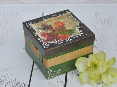 Decoupage tutorial - Venetian style box