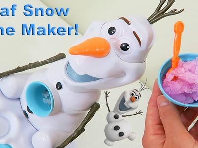 Disney's Frozen Olaf Snow Cone Maker | Easy DIY Strawberry & Raspberry Snow Cones!