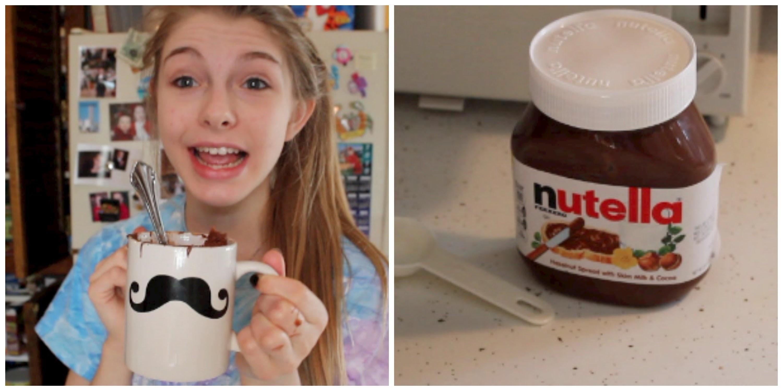 DIY 2 Minute Nutella Cake!