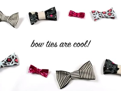 DIY Bow Ties for the ladies