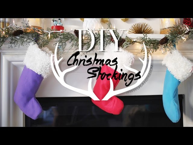 DIY Cute Easy Holiday Stockings {Home Decor} | ANNEORSHINE