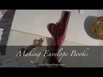 DIY Envelope Album Books : Easy Valentines & Bookbinding Project!