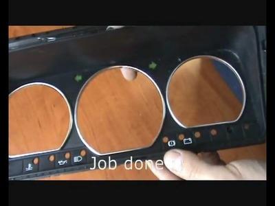 DIY: Fitting chrome rings in Volkswagen Corrado
