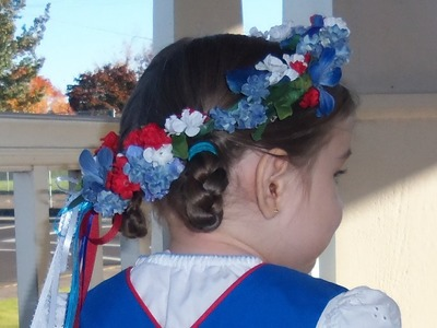DIY Flowered hair wreath tutorial