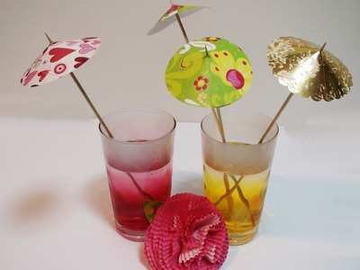 DIY: How To Make Easy Drink Umbrellas For Your Party