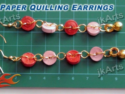 DIY How to make Paper Quilling Earring - JK Arts 300