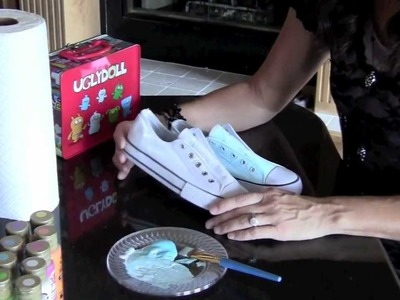 DIY: Part 1 Ugly Doll Painted Shoe Project | ShowMeCute