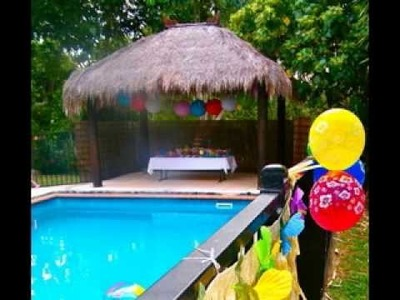 DIY Pool party decorating ideas