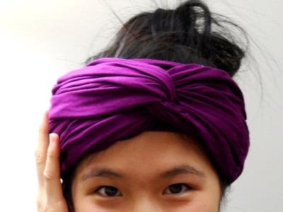 DIY: Scarf into Headwrap (No Sew)