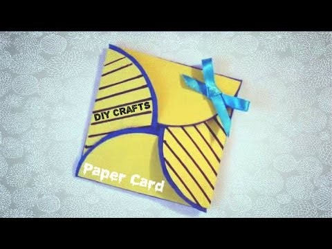 DIY Simple Origami Card - Tutorial( Felicitari Handmade )