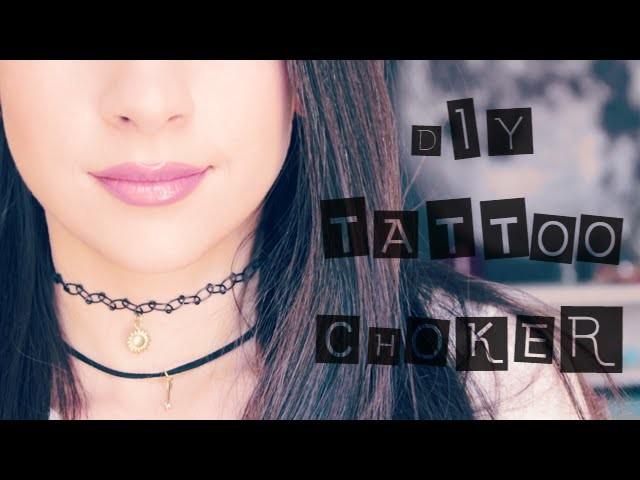 DIY Tattoo Choker with Pendant