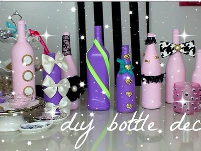 DIY wine bottle decor