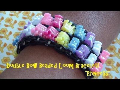 Double Row Beaded Loom Bracelet Tutorial! (Step-by-Step)!