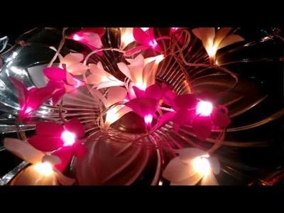 Easy Paper flower - frangipani LED lights