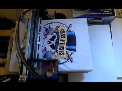 Epson S22 Home Made DIY DTG Tee Shirt Printer