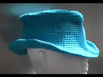 Fedora. Cowboy. Cowgirl Hat Crochet Tutorial Part 3 of 3