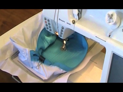 How To Embroider A Waffle Weave Cosmetic Bag
