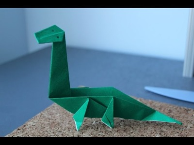 How to make a Origami Dinosaur - the diplodocus