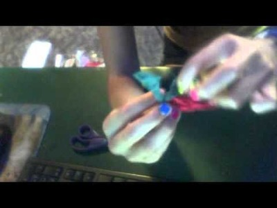 How to make a rasta bracelet out of nylon craft loops (: