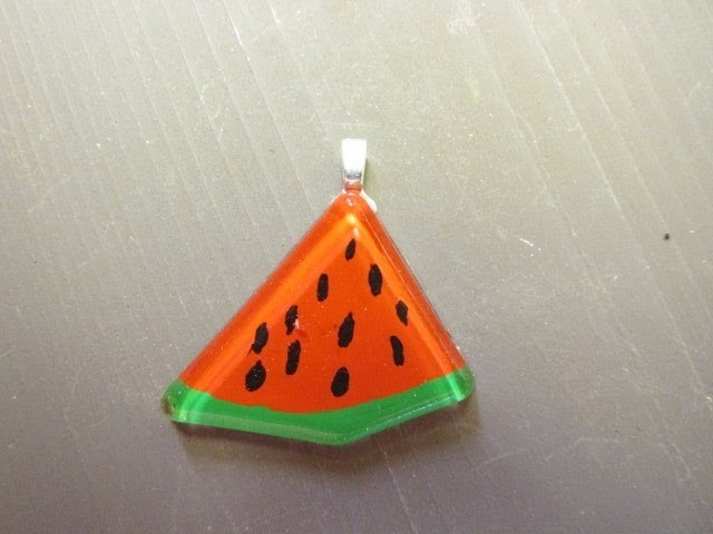 How to Make a Watermelon Resin Charm Craft Tutorial