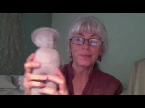 How to make a wool head-form for a knitted teddy bear