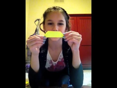 How to make an origami bookmark out of a sticky note