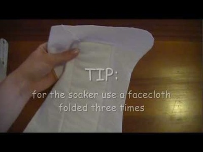 How to sew a fitted cloth diaper (swapped channels, see description)