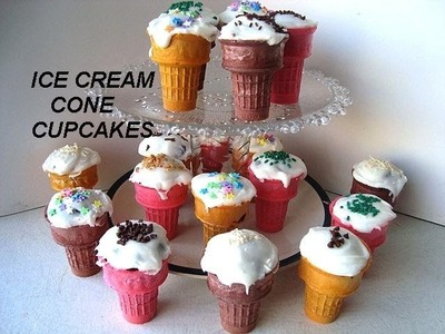 ICE CREAM CUPCAKES, party cupcakes, muffin cups, how to diy