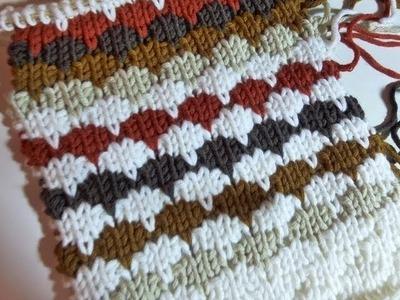 "Knit with eliZZZa * Knitting Stitch ""Cobblestone"""