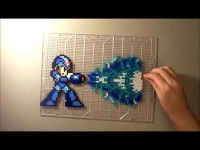 Mega Man X Perler Bead Time Lapse