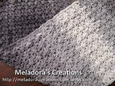 Mesh Stitch Scarf - Left Handed Crochet Tutorial - Great Scarf for men
