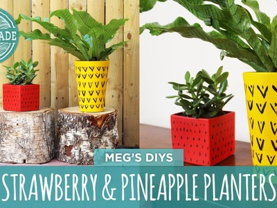 Mother's Day DIY: Strawberry & Pineapple Planters