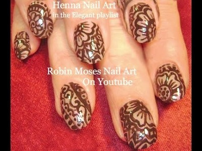 Nail Art Tutorial | DIY Henna | Easy Henna Nail Art Design