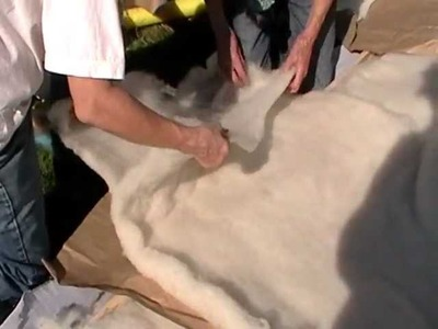 Nancy Today: How to make a wool blanket from scratch 1 piecing ASMR Sheep