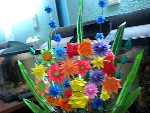 Origami flower !! Hand made ! flower vace, Professional