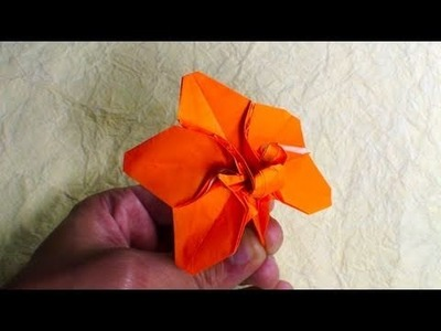 Origami Orchid Blossom (Robert J. Lang)