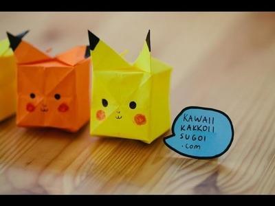 Pikachu Origami - How To Fold (HD)
